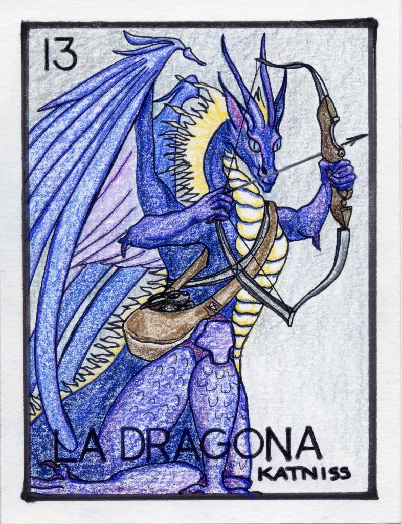 My oldest niece is into dragons, archery & The Hunger Games...she has a black rabbit named Katniss...and she told me her favorite color is the blue of the sky just before dark.