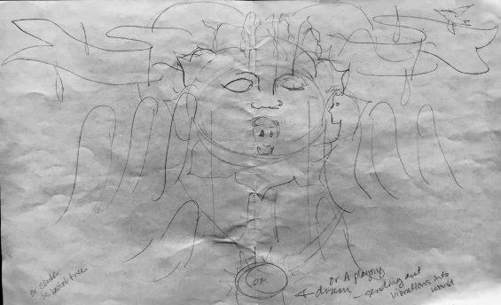 group sketch for Precita Eyes workshop