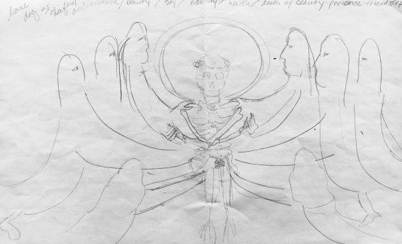 my sketch for Precita Eyes workshop